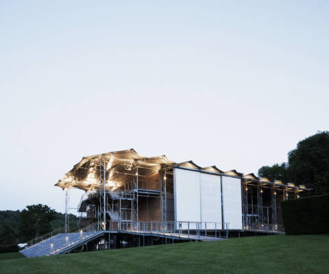 Garsington Opera summer opera festival at dusk