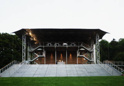 Snell Associates' Garsington Opera pavilion is eclectic, lightweight, demountable and connects with its landscape setting