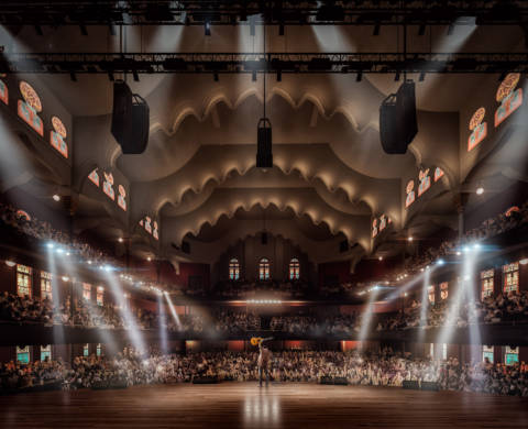 Revitalized Massey Hall interior on stage
