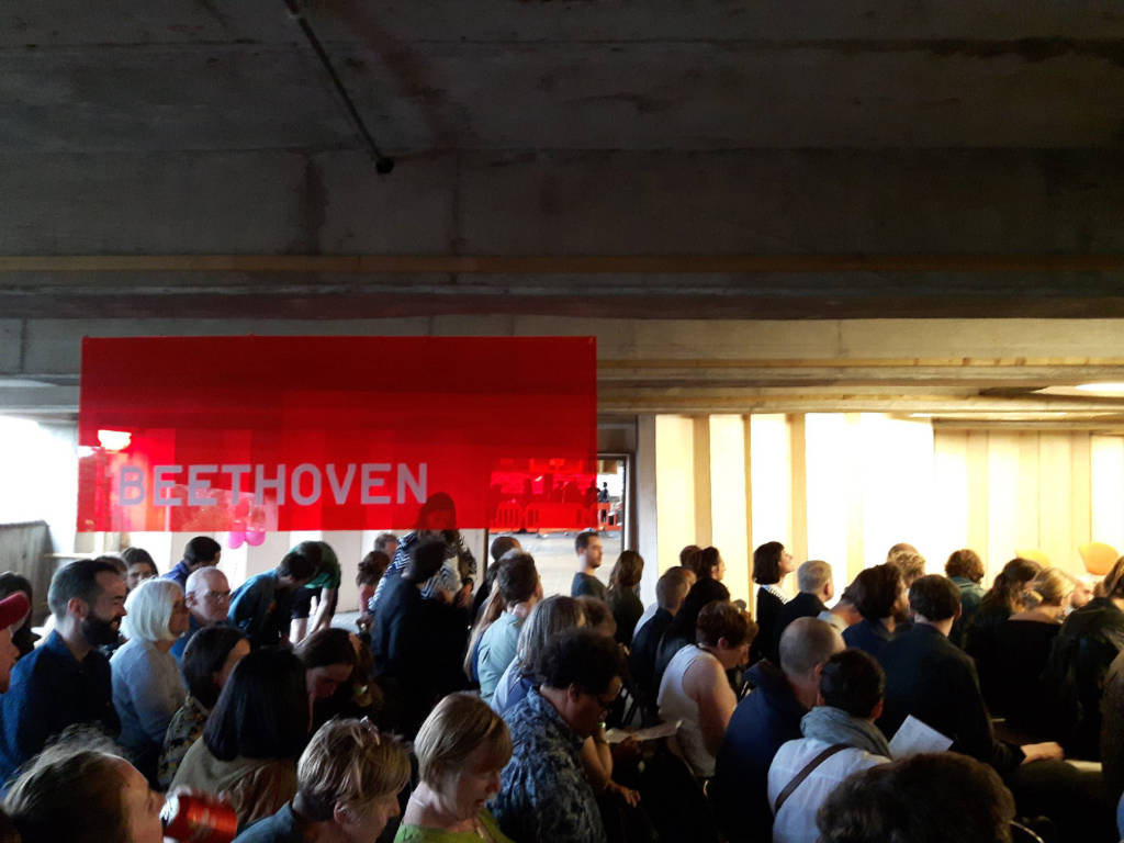 Multi-Story Orchestra in Car park Beethoven concert