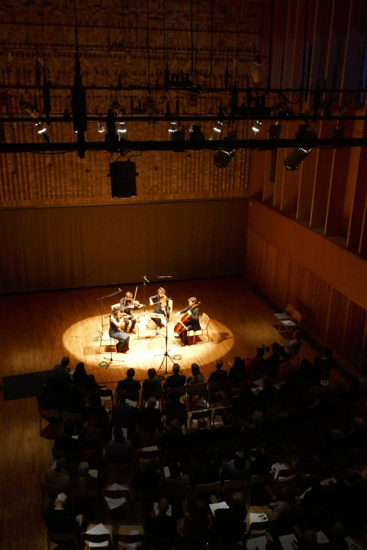 String quartet in Storey's Field Centre
